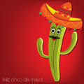 Cinco de mayo feliz happy th of may chilli card in vector format Royalty Free Stock Photos