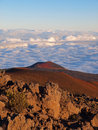 Cinder cone on mauna kea a scoria the flank of hawaii Stock Images