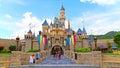 Cinderella castle at disneyland hong kong Royalty Free Stock Photo