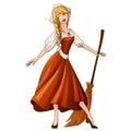 Cinderella fairytale character illustration Royalty Free Stock Photo