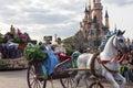 Cinderella and prince charming in disnayland paris parade Royalty Free Stock Image
