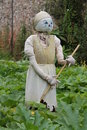 Cinderella scarecrow a themed in a garden setting Stock Photo