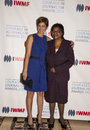 Cindi leive and edna machiori arrive on the red carpet for the international women's media foundation courage in journalism Stock Photography