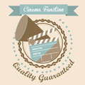 Cine icon illustration of of cinema director speaker and slate vector illustration Royalty Free Stock Image