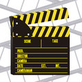 Cine icon illustration of slate of director film vector illustration Stock Images