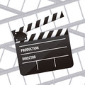 Cine icon illustration of slate of director film vector illustration Royalty Free Stock Photography