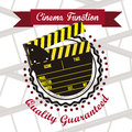 Cine icon illustration of slate of director film vector illustration Royalty Free Stock Photo