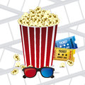 Cine icons illustration of film icon movie popcorn vector illustration Stock Photography