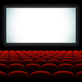 Cinema auditorium with screen and seats Stock Photos