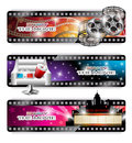 Cinema Banners Royalty Free Stock Photo