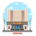 Cinema building for art movies or films Royalty Free Stock Photo