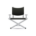Cinema chair abstract with shadow effect on white background Royalty Free Stock Photo