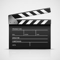 Cinema clapper black isolated on a gray background illustration Royalty Free Stock Images