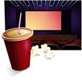 Cinema, drink, pop-corn