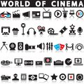 Cinema, film and movie icons.