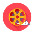 Cinema film movie reel icon Royalty Free Stock Photo