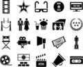 Cinema icons Royalty Free Stock Photo