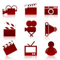Cinema icons2 Stock Image