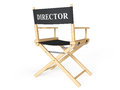Cinema industry concept directors chair on a white background Royalty Free Stock Photo