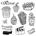 Cinema movie and film set Stock Photo