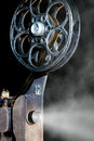 Cinema movie projector with the film Royalty Free Stock Photo