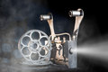 Cinema movie projector with the film Royalty Free Stock Photos