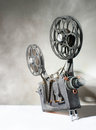 Cinema movie projector with the film Stock Images