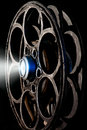 Cinema reel of film on the black background Royalty Free Stock Photography