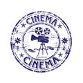 Cinema rubber stamp Stock Image