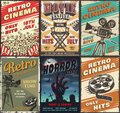 Cinema set of posters Royalty Free Stock Photo
