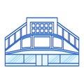 Cinema shopping center lines icon