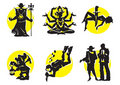 Cinema Silhouettes Icons_12 Stock Image