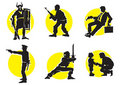 Cinema Silhouettes Icons_13 Stock Image