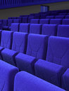 Cinema stage seats blue d render depth of field Stock Image
