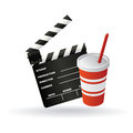 Cinema symbols abstract with shadow effect on white background Stock Photo