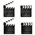 Cinema symbols abstract with shadow effect on white background Royalty Free Stock Photo
