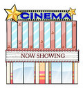 A cinema theater building Royalty Free Stock Photo