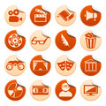 Cinema and theatre stickers Royalty Free Stock Images