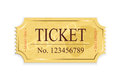 Cinema ticket old isolated on a white background illustration Stock Photo