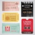 Cinema Tickets Set