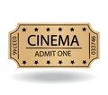 Cinema tickets on white background Stock Images