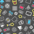 Cinema web silhouettes background Royalty Free Stock Photos