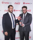 Cinemacon the big screen achievement awards las vegas march comedy filmmakers of year award winners evan goldberg and seth rogen Royalty Free Stock Photos