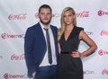 Cinemacon the big screen achievement awards las vegas march rising stars of award winners actors jack reynor and nicola peltz Stock Photography