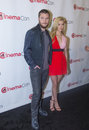 Cinemacon paramount opening night presentation las vegas nv march actors jack reynor l and nicola peltz arrives at the at caesars Stock Photography