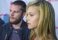 Cinemacon paramount opening night presentation las vegas nv march actors jack reynor l and nicola peltz arrives at the at caesars Stock Photos