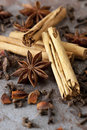 Cinnamon, Anise and Cloves Royalty Free Stock Photography