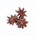 Cinnamon anise and cloves on white background sticks powder Stock Photography