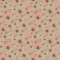 Cinnamon and anise  seamless pattern Stock Photo