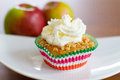 Cinnamon-apple cup cake with crunchy topping Royalty Free Stock Photo